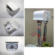 New Safe Razor Stand Suction Cup Holder Shaver Cap Holder Bathroom Organiser