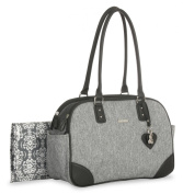 Little Me Heather Duffel Nappy Bag, Grey