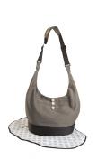 EquiptBaby Nappy Bag Anacapa, Soft Base Nappy Bag & Changing Pad, Grey