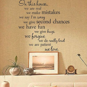 1 Pc Home DIY Decor Quote Removable Vinyl Wall Stickers Art Words Decal