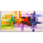 Omax Decor 'Derivitives of Colour' Original Painting on Canvas