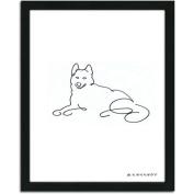 Personal-Prints Husky Dog Line Drawing Framed Art