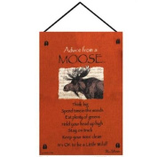 "Orange ""Advice from A Moose"" Wall Art Hanging Tapestry 43cm x 70cm"