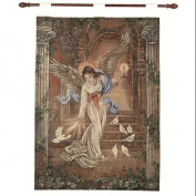 "Lena Liu ""Angel of Light"" Pictorial Religious Wall Art Hanging Tapestry 70cm x 90cm"