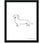 Personal-Prints Dachshund Dog Line Drawing Framed Art
