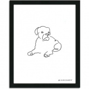 Personal-Prints Boxer Dog Line Drawing Framed Art