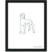 Personal-Prints Great Dane Dog Line Drawing Framed Art