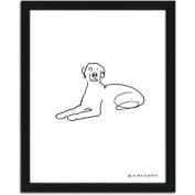 Personal-Prints Weimariner Dog Line Drawing Framed Art