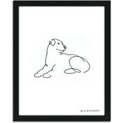 Personal-Prints Rottweiler Dog Line Drawing Framed Art