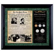 American Coin Treasures New York Times JFK Assassination Framed Memorabilia