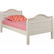 Bolton Furniture Emma Twin Bed with Low Headboard/Footboard, White