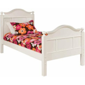 Bolton Furniture Emma Twin Bed with Tall Headboard, White