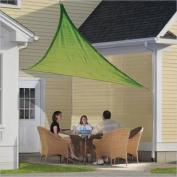 ShelterLogic ShadeLogic 3.7m Triangle Sun Shade Sail in Lime Green