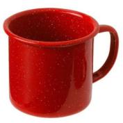 GSI Enamelware Cup, 350ml, Red