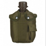 Olivce Drab G.I. Canteen and Cover, 0.9l