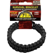 SecureLine 250kg Military Grade Paracord Survival Bracelet, Large, 24cm , Black