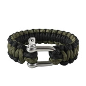 Rothco Paracord Survival Bracelet with W/D Shackle Closure