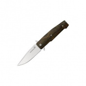 Viper Knives 5870ZI Viper Keeper Linerlock with Brown Natural Zircote Wood Handles Multi-Coloured