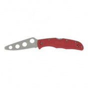 Spyderco Knives 10TR Endura 4 Trainer Lockback Knife with Red FRN Handles Multi-Coloured