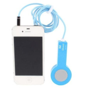 3.5mm Self Timer Camera Photo Shutter Release Cable Blue for iPhone 4 4S 5 iPad