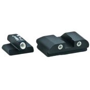 AmeriGlo Classic Sight 3 Dot, Fits FNP .45/FNX .40/FNX .45, Green with White Outline, Front and Rear Sights
