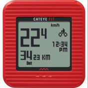 CatEye Fit Wireless Cycling Computer/Walking Pedometer - Red