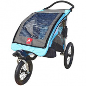 Allen Sports JTX1 Aluminium 1-Child Trailer/Swivel Wheel Jogger, Blue
