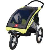 Allen Sports JTX1 Aluminium 1-Child Trailer/Swivel Wheel Jogger, Green