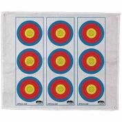 Morrell Targets Polypropylene Archery Target Face, Vertical 3 Spot