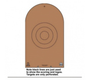 Law Enforcement Targets NRA D-1 Cardboard Bianchi Cup Tombstone 100 Per Case