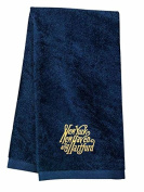 New Haven Script Logo Embroidered Hand Towel Navy [57]