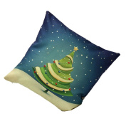 Yoyorule Christmas Tree Sofa Bed Home Decoration Festival Pillow Case Cushion Cover