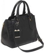 Bulldog Cases Satchel Style Concealed Carry Purse w/ Holster- Black w/Black Trim