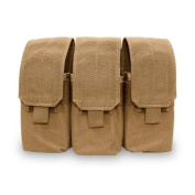 Elite Survival Systems MOLLE Triple A/R Mag Pouch, Coyote Tan