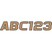 Hardline Series 700 Registration Kit, Solid Fill Colours with Black Outlines and Slanted European Font