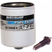 Quicksilver Water Separating Fuel Filter with Black Screw-in Sensor Under Cowl On All Mercury/Mariner V-6 EFI Outboards 1995 and Earlier
