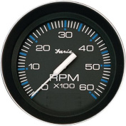 Faria Coral Black 10cm Gauge, 6000RPM Tachometer , Gas, Inboard and IO