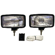 Anderson 55W Halogen Docking Lights with 3.8cm Stainless Steel Bolt, Black