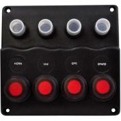"SeaSense Waterproof 4 Gang Toggle Switch ""Wave"" Panel"
