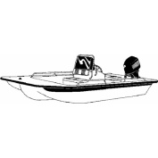 Carver Styled-To-Fit Boat Cover for Centre Console Bay Style Fishing Boats with Shallow Draught Hull