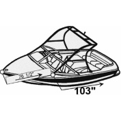 Carver Styled-To-Fit Boat Cover for Tournament Ski Boats with Standard Tower