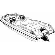 Carver Styled-To-Fit Boat Cover for I/O Deck Boats with Low Rails