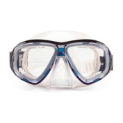 16cm Malibu Blue and Clear Pro Mask Swimming Pool Accessory for Adults