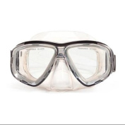 16cm Malibu Black and Clear Pro Mask Swimming Pool Accessory for Adults