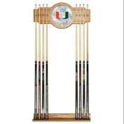 University of Miami Cue Rack with Mirror, Fade