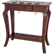 Deluxe Floor Cue Rack, Walnut Finish