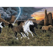 Junior Large Paint By Number Kit 39cm x 29cm -Thunder Run