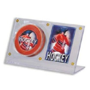 Powers Collectibles 23983 Signed Hockey Puck and Card Holder Acryli Holder safely stores and displays 1 Puck and 1 Card; Ultra Clear; six screw screwdown.