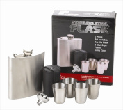 FJX Wholesale HFL-FS007 210ml Stainless Steel 7 Piece Flask Gift Set
