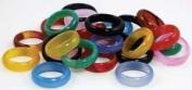 AzureGreen JRA115 6mm Rounded Agate Rings 20-Bag